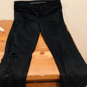Articles of Society destroyed black skinny jeans